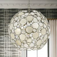 Crystorama Palla Collection 6-light Antique Silver Chandelier
