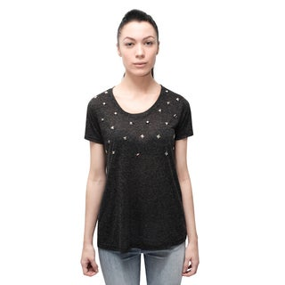 Bluberry Women's Carbon Rain Embelished Tee