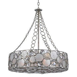 Crystorama Palla Collection 8-light Antique Silver Chandelier