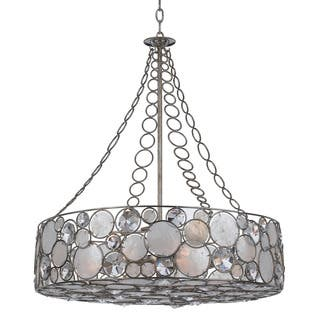34b05bd715 Crystorama Palla Collection 8-light Antique Silver Chandelier