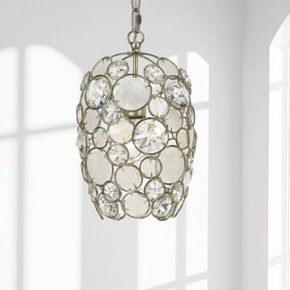 Crystorama Palla Collection 1-light Antique Silver Mini Chandelier