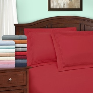 Superior Infinity Wrinkle Resistant Microfiber Embroidered Duvet Cover Set