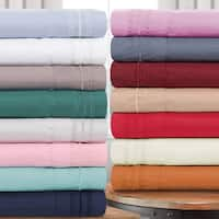Superior Infinity Wrinkle Resistant Brushed Microfiber Embroidered Sheet Set
