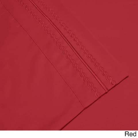 Superior Infinity Wrinkle Resistant Brushed Microfiber Embroidered Bed Sheet Set