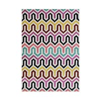 Alliyah Handmade New Zealand Blend Wool Casual Yellow Geometric Rug ( 5' x 8' )