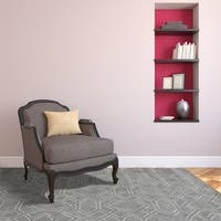 Corpus Christi Cement Gray New Zealand Wool and Art Silk Hand-Tufted Rug (5' x 8') - 5' x 8'