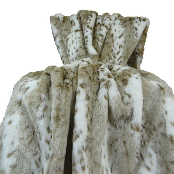 Plutus Siberian Leopard Handmade Throw / Blanket