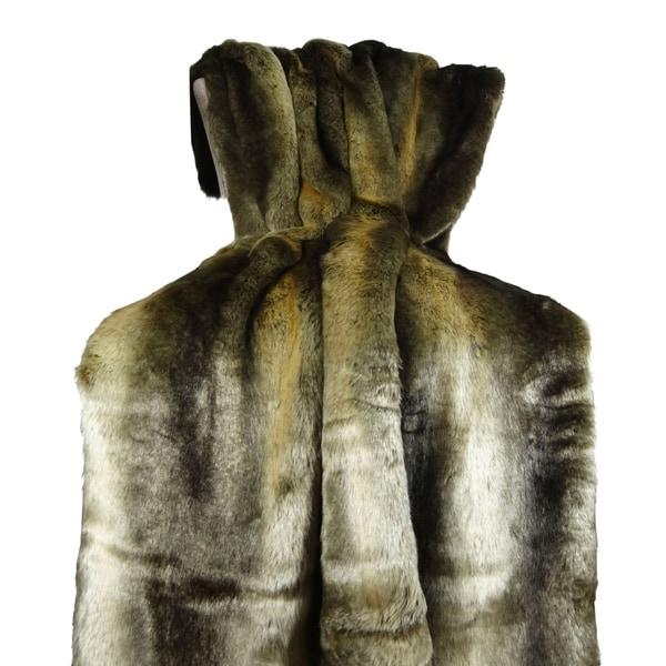 Plutus Tissavel Volga Rabbit Faux Fur Handmade Throw / Blanket