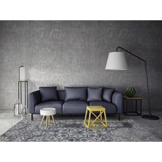 Hand-tufted Jasmine Grey Wool Area Rug (7'6 x 9'6)