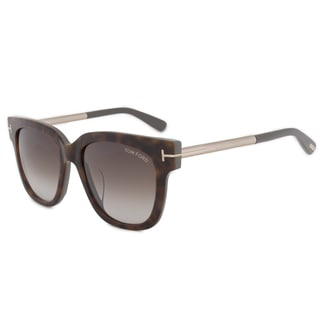 Tom Ford Tracy FT0436 Women's Dark Havana Frame Brown Gradient Lens Sunglasses