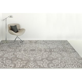 Hand-tufted Jasmine Blue/Grey Wool Area Rug (7'6 x 9'6)