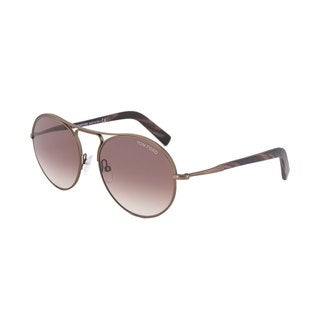 Tom Ford Jessie FT0449 Women's Matte Antique Brown Frame Burgundy Gradient Lens Sunglasses