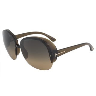 Tom Ford Marine FT0458 Women's Brown Frame Crystal Brown Gradient Lens Sunglasses