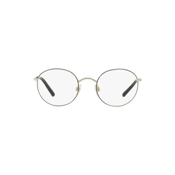 7cfc6a7f383 Shop Dolce   Gabbana Men s DG1290 488 50 Round Metal Gold Clear ...