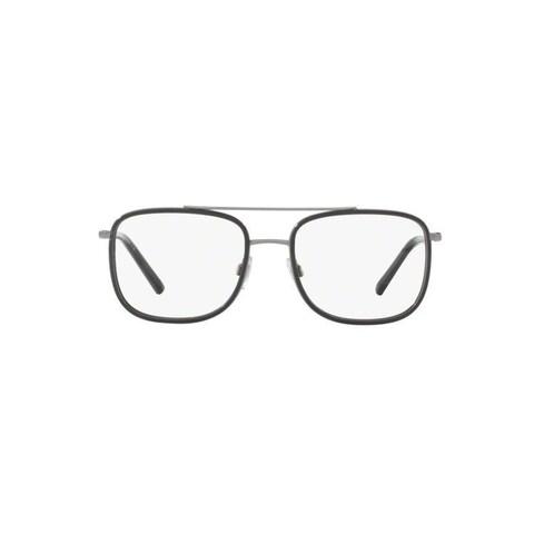 Dolce & Gabbana Men's DG1288 488 53 Square Metal Brown Clear Eyeglasses