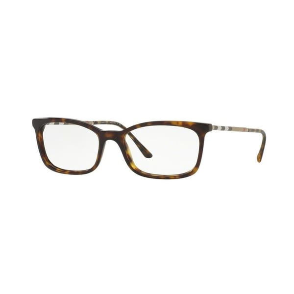 3a013125ba637 Burberry Women  x27 s BE2243Q 3002 51 Rectangle Plastic Havana Clear  Eyeglasses