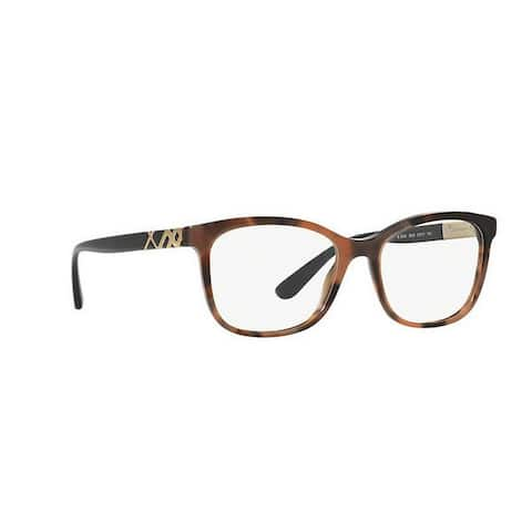 Burberry Women's BE2242 3623 53 Square Plastic Brown Clear Eyeglasses