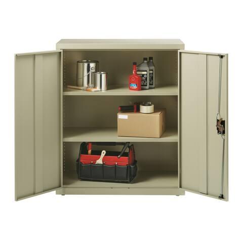 "Iron Horse 3 Shelf Metal Storage Cabinet 18""D x 36""W x 42""H, Putty"