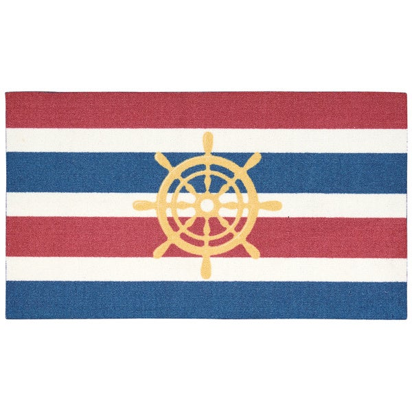 Rug Squared Milford Navy Nautical Mat