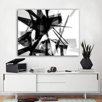 Ready2HangArt Indoor/Outdoor Wall Decor 'Vibrant Geo V' in ArtPlexi by NXN Designs - Black
