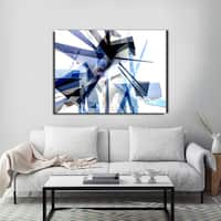 Ready2HangArt Indoor/Outdoor Wall Decor 'Vibrant Geo IV' in ArtPlexi by NXN Designs - Blue