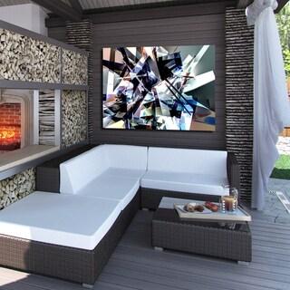 Ready2HangArt Indoor/Outdoor Wall Decor 'Vibrant Geo III' in ArtPlexi by NXN Designs - Multi-color