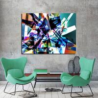 Ready2HangArt Indoor/Outdoor Wall Decor 'Vibrant Geo II' in ArtPlexi by NXN Designs - Multi-color