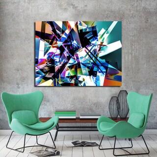 Ready2HangArt Indoor/Outdoor Wall Decor 'Vibrant Geo II' in ArtPlexi by NXN Designs - Multi-color