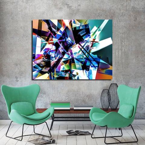 Ready2HangArt Wall Decor 'Vibrant Geo II' in ArtPlexi by NXN Designs - Multi-color