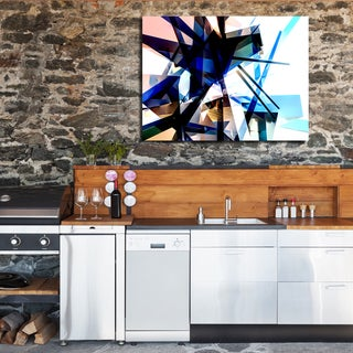 Ready2HangArt Indoor/Outdoor Wall Decor 'Vibrant Geo' in ArtPlexi by NXN Designs