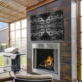 Ready2HangArt Indoor/Outdoor Wall Decor 'Dark Splashes' in ArtPlexi by NXN Designs - Black (4 options available)