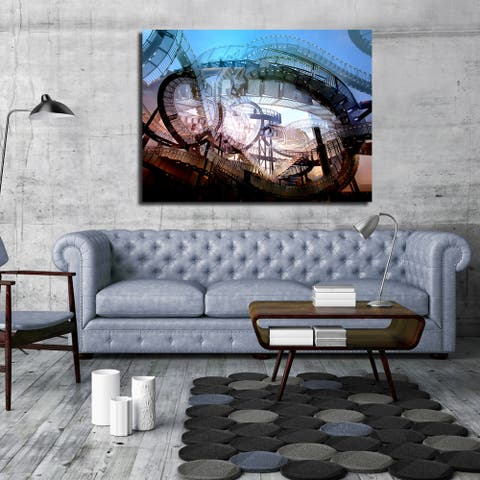 Ready2HangArt Wall Decor 'Mad House' in ArtPlexi by NXN Designs - Multi-color