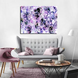 Ready2HangArt Indoor/Outdoor 4 Piece Wall Art Set (32 x 48) 'Color Clusters III' in ArtPlexi by NXN Designs - Purple
