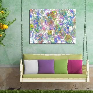 Ready2HangArt Indoor/Outdoor Wall Decor 'Color Clusters II' in ArtPlexi by NXN Designs