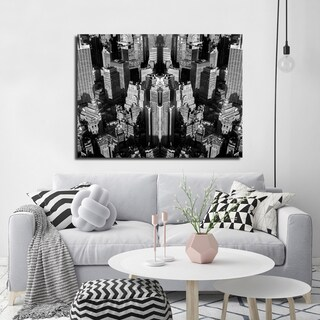 Ready2HangArt Indoor/Outdoor Wall Decor 'Urban Illusions' in ArtPlexi by NXN Designs - Black (4 options available)