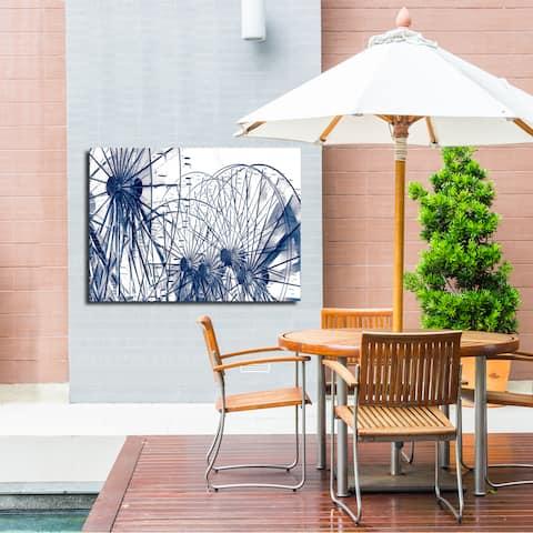 Ready2HangArt Wall Decor 'Fun House II' in ArtPlexi by NXN Designs - Blue