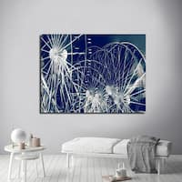 Ready2HangArt Indoor/Outdoor Wall Decor 'Fun House' in ArtPlexi by NXN Designs - Blue