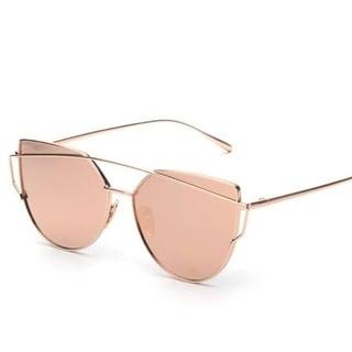 Aviator Twin Bar Polarized Acrylic Frame Sunglasses