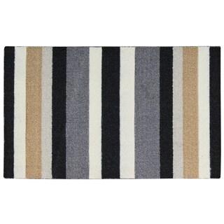 Rug Squared Milford Black Stripe Mat (1'8X2'9)