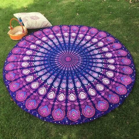 60-inch Round Bohemian Hippie Throw