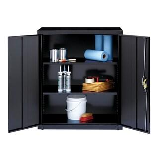 "Iron Horse 3 Shelf Metal Storage Cabinet 18""D x 36""W x 72""H, Black"