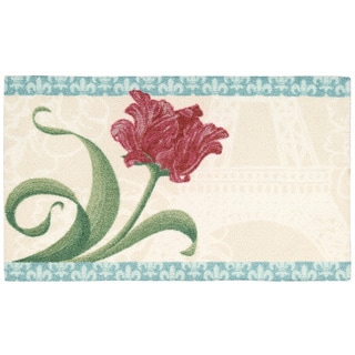 Rug Squared Milford Beige Flower Mat (1'8X2'8)