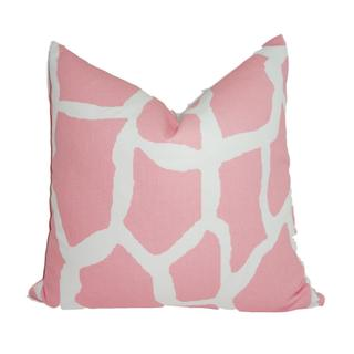 Giraffe Patch Cream and Pink Pillow Cover (Michigan)