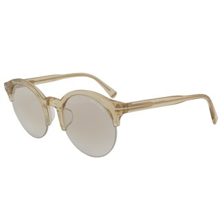 Tom Ford FT9358 Unisex Translucent Sandy Brown Frame Champagne Gradient Lens Sunglasses
