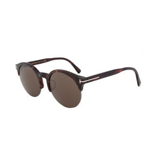 Tom Ford FT9358 Unisex Black Frame Brown Lens Sunglasses