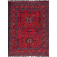 eCarpetGallery Hand-knotted Finest Khal Mohammadi Red Wool Rug (3'4 x 4'8)