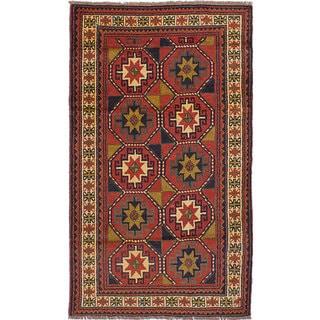 eCarpetGallery Guchan Brown Wool Hand-knotted Rug (3'9 x 6'6)