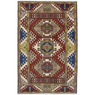 eCarpetGallery Royal Kazak Red Wool/Cotton Rug (4'0 x 6'4)