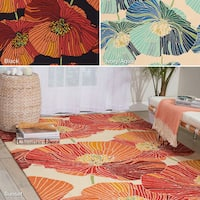 Indoor/Outdoor Rug Squared Laurel Flower Mat (1'9X2'9)