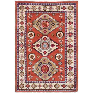 ecarpetgallery Royal Kazak Brown Wool Hand-knotted Rug (4'1 x 5'11)